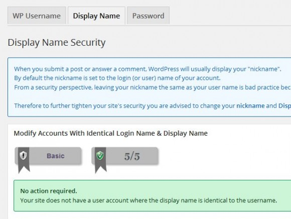 Display Name Security55