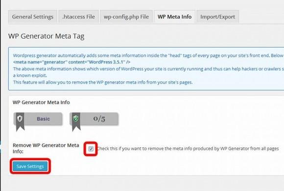 WP Generator Meta Info