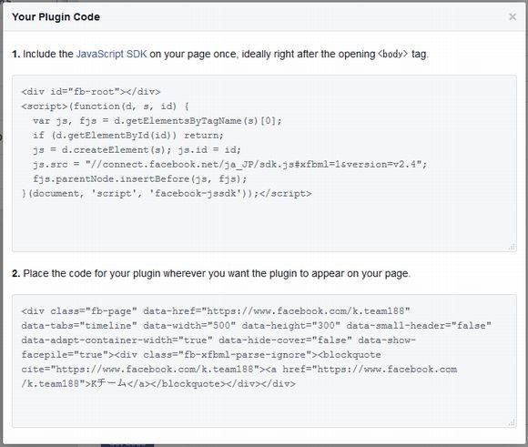 Page Pluginコード